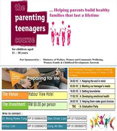 parenting teenagers course in mandarin